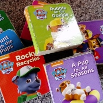 Billy loves this mini set of books, great for buggy and changing bag too.